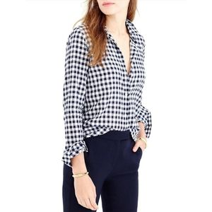 {J.Crew} Classic Fit Boy Shirt in Gingham